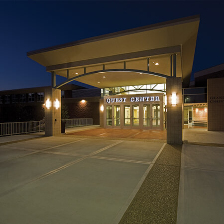 GRCH Quest Center Entrance at night