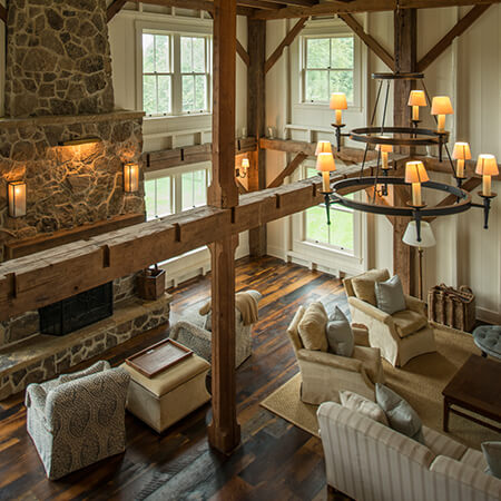 Private residence living room