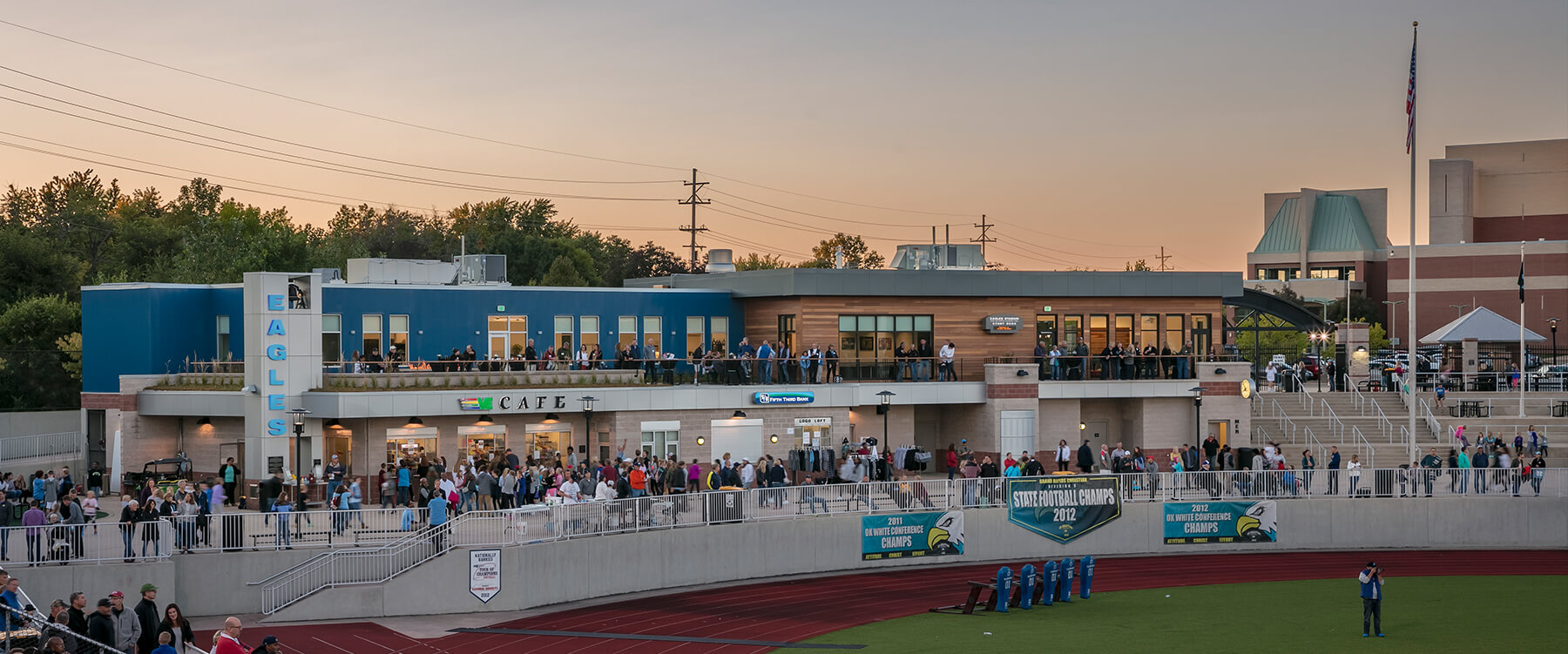 Grand Rapids Christian High School Stadium concessions and admin building