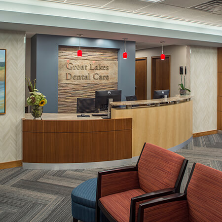 front desk at great lakes dental
