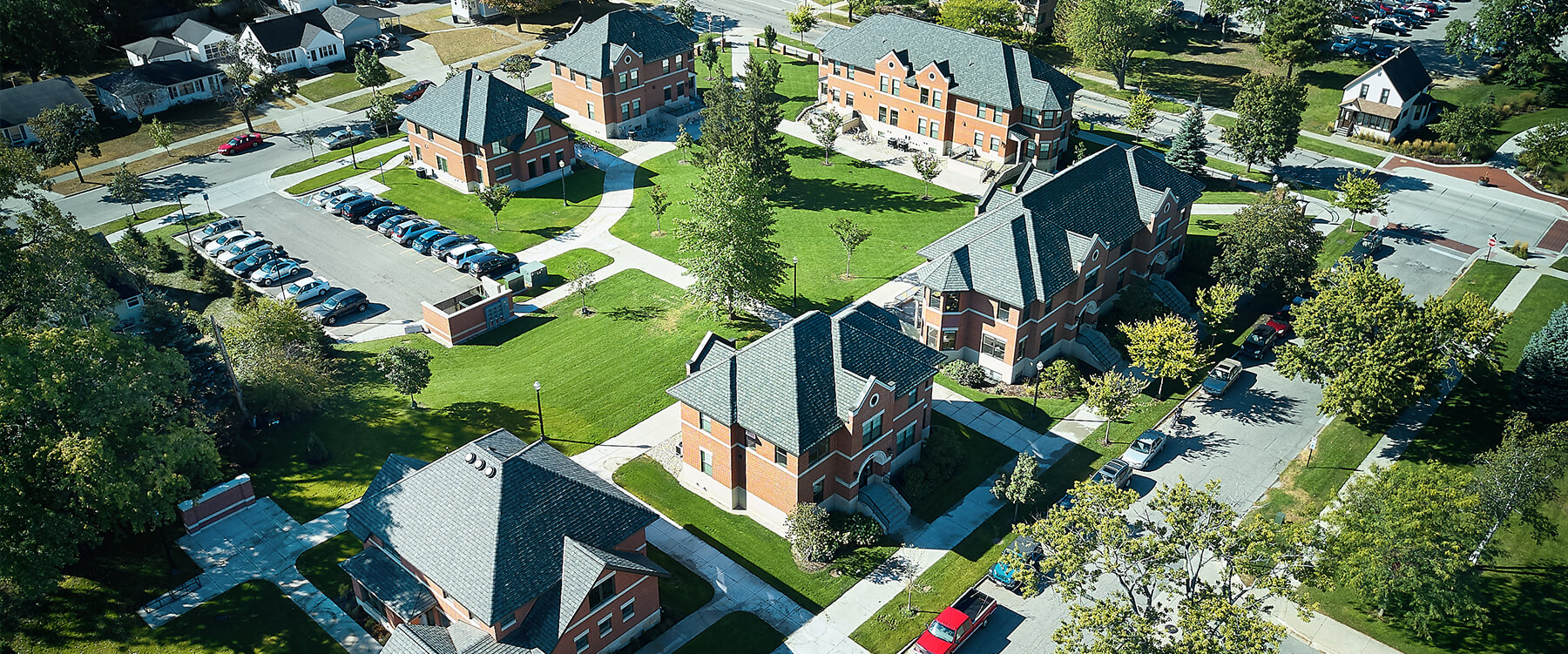 Hope College Student Housing aerial