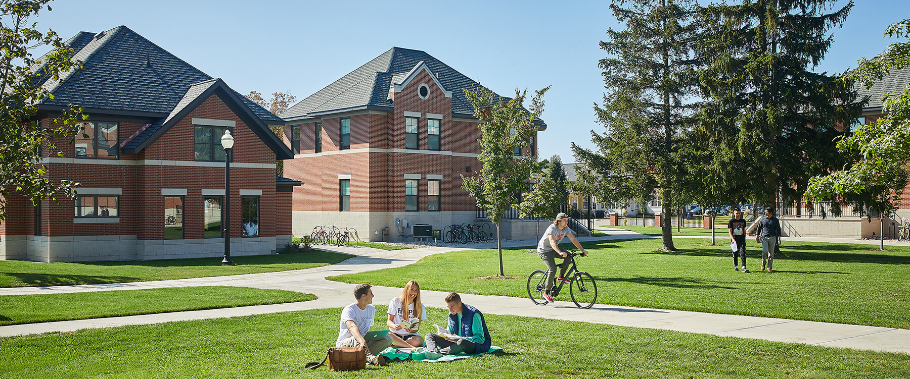 Hope College Student Housing lawn