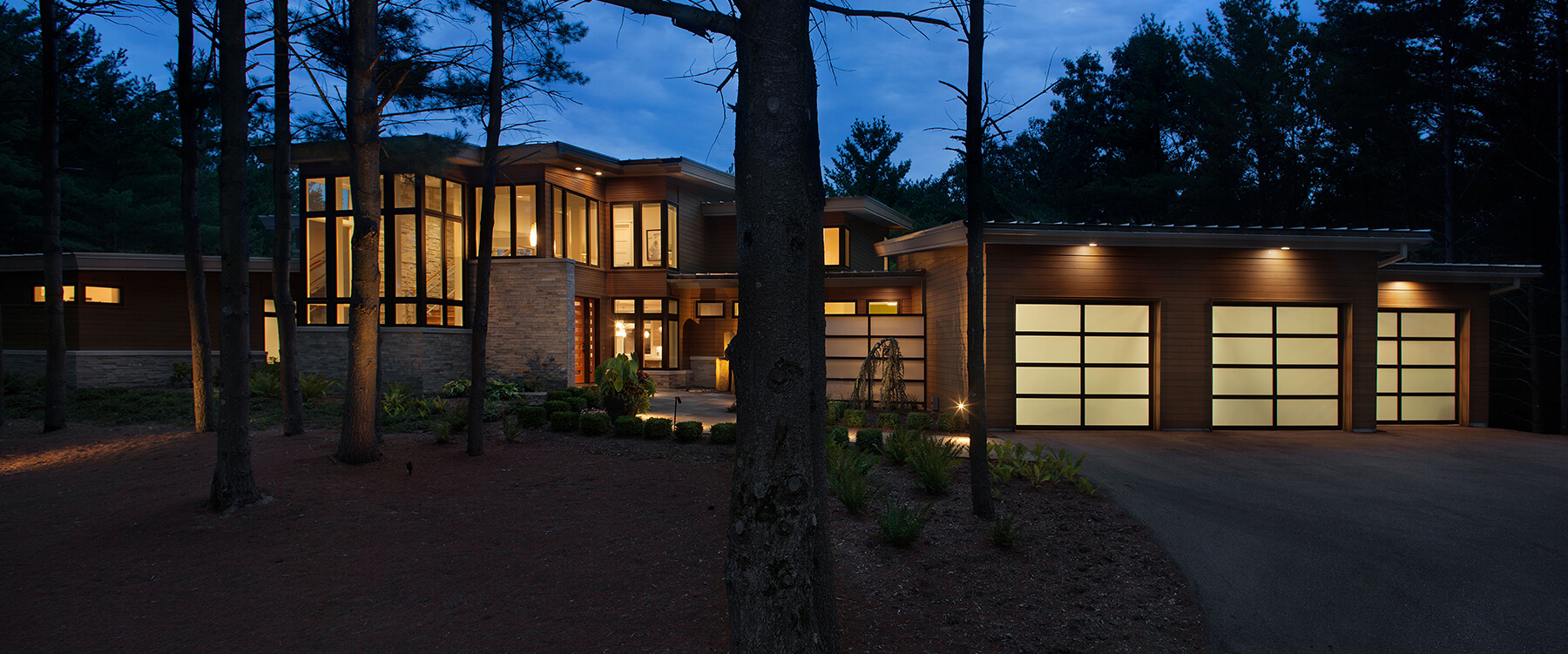 front exterior of Contemporary Michigan Home