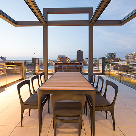 deck at urban penthouse