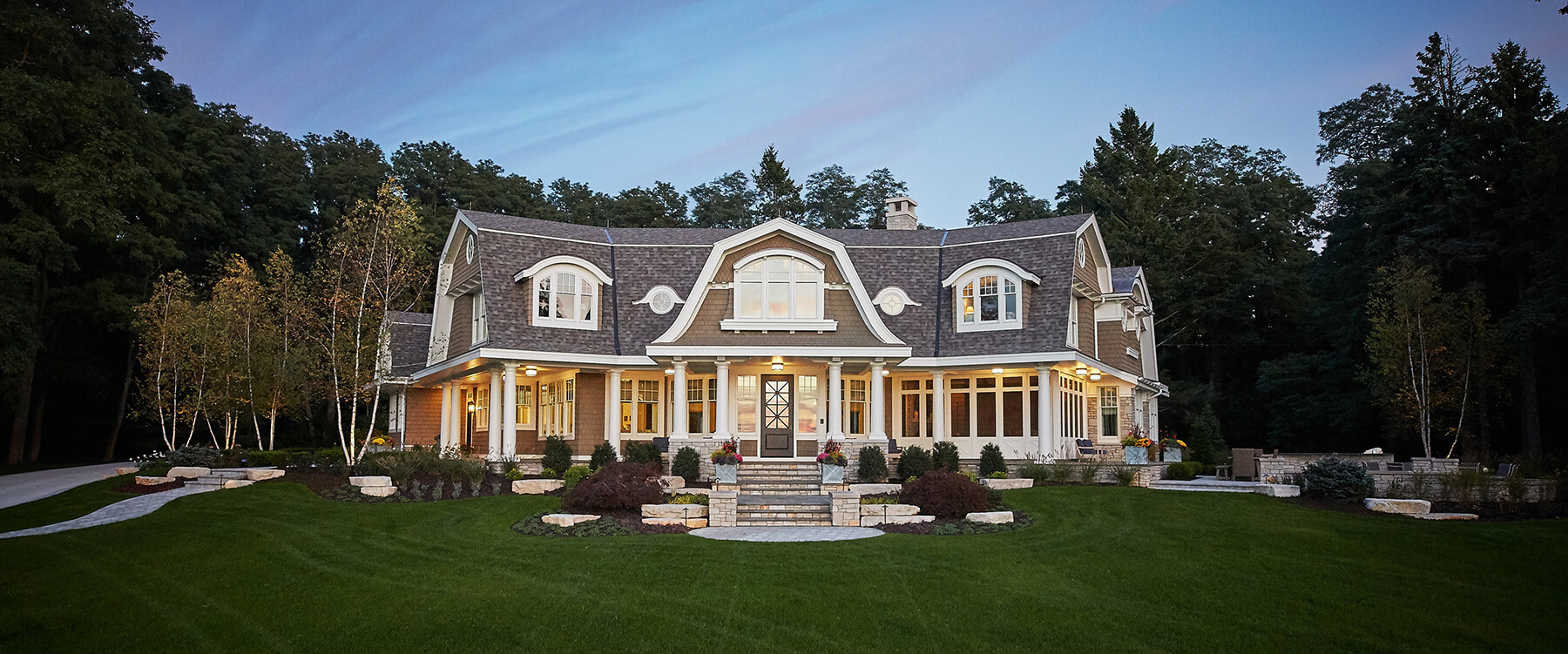 front exterior at Lake Michigan retreat