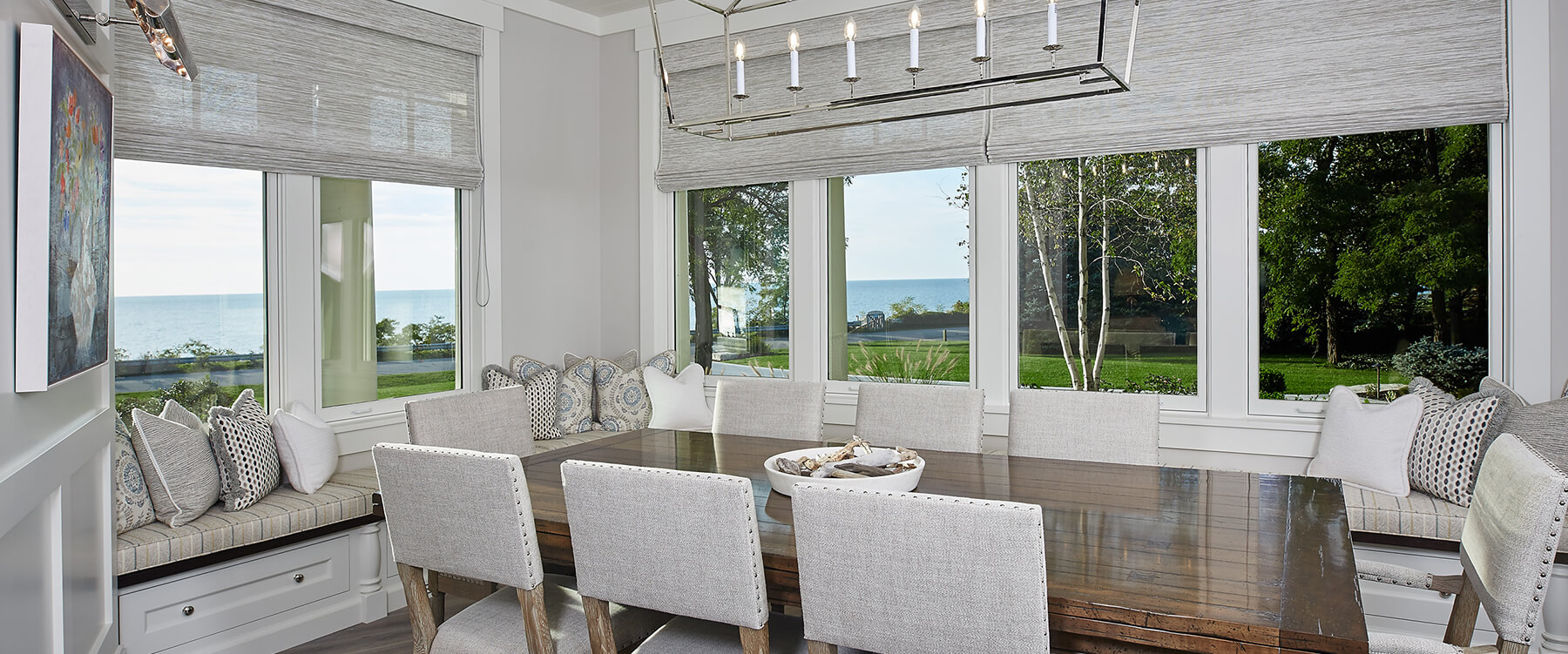 Dining room at Lake Michigan retreat