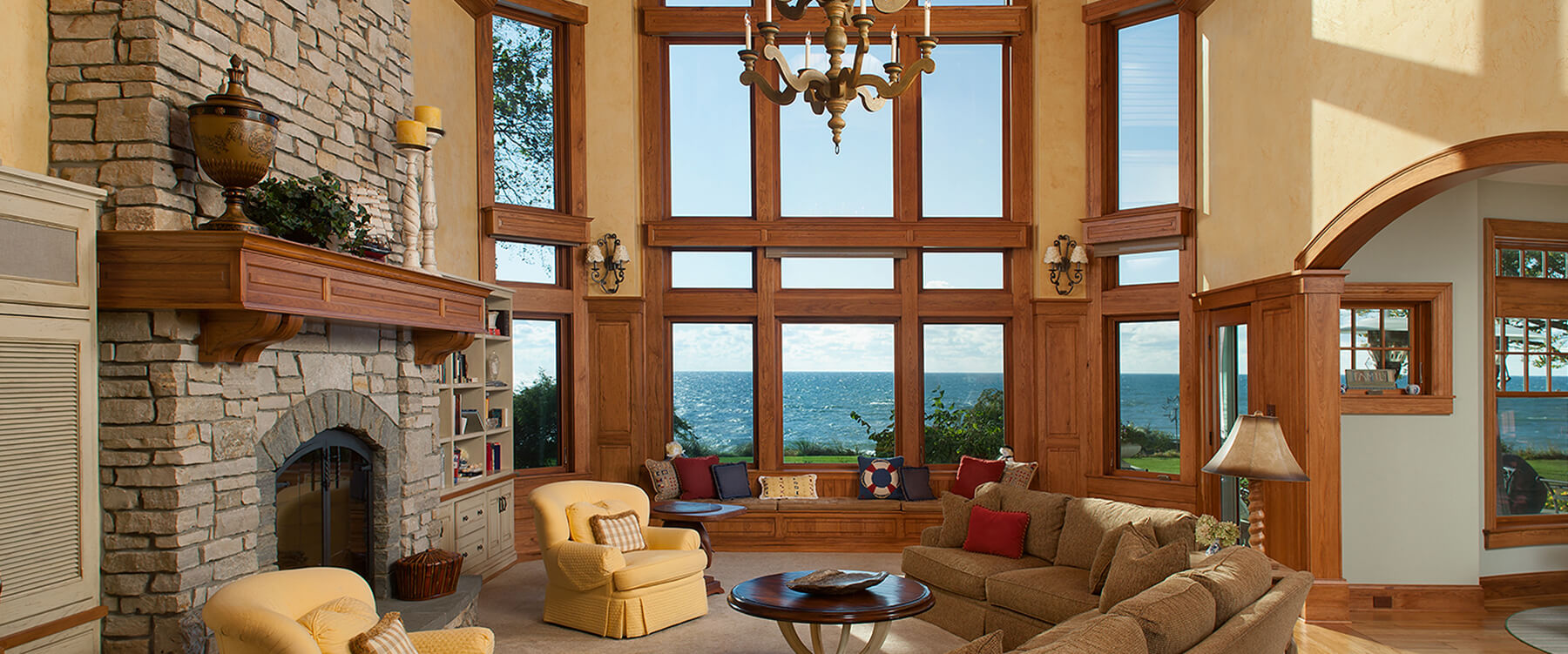 New England style house living room