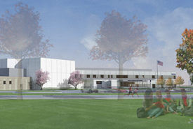 South Christian High School exterior rendering