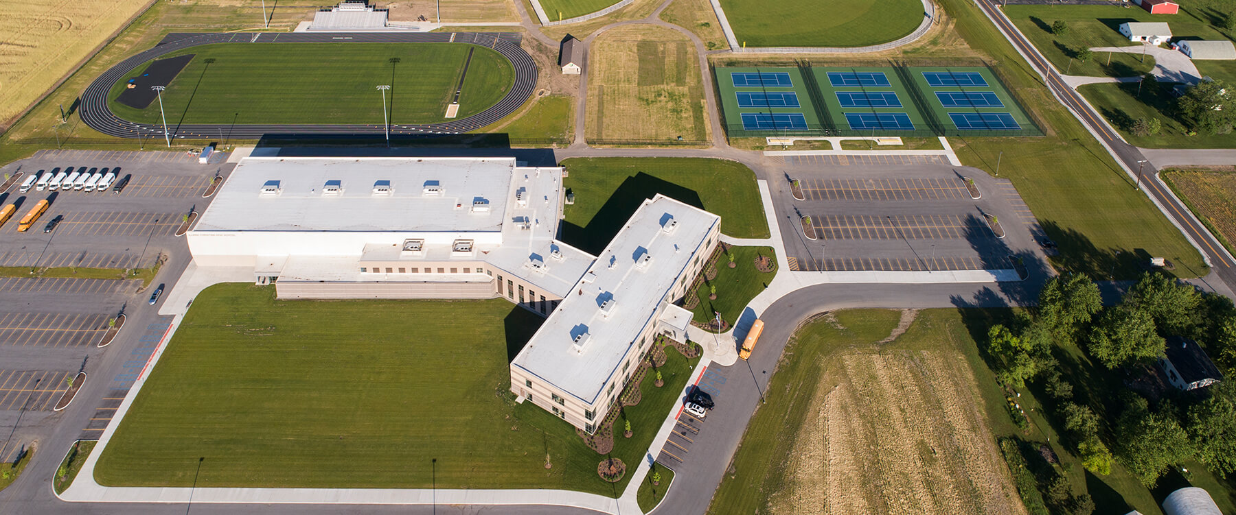 Illiana Christian High School aerial