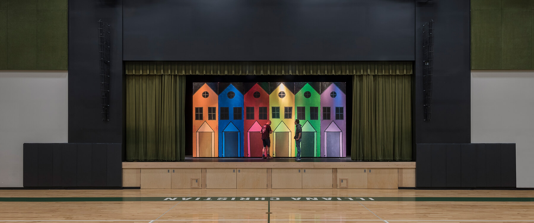 Illiana Christian High School stage